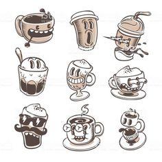 Cartoon Tattoos, Cartoon Drawings, Cartoon Illustrations, Cartoon Art Styles, Cartoon Design, Character Illustration, Graphic Design Illustration, Graphic Art, 1930s Cartoons