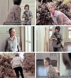 "The Walking Dead Season 6 Episode 2 "" JSS"" Carol and Carl"