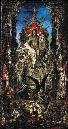 """Gustave Moreau """"Jupiter et Sémélé"""""""