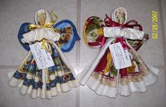 """Create: <3 Kitchen Angels <3 - Dish towel, wash cloth, hot pad (wings), Great """"usable"""" gift/ decoration. KarensCreationsOnline <3 (other versions exist online too) <3"""