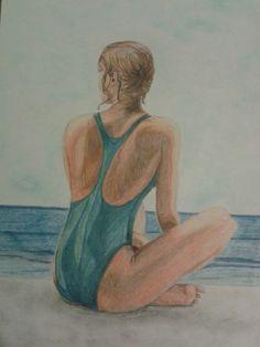 Dibujo a lapicero de color. Realizado por Alicia Ruiz