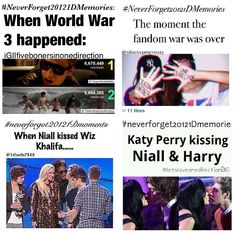 #neverforget20121Dmemories VMA's and fandom wars. -E