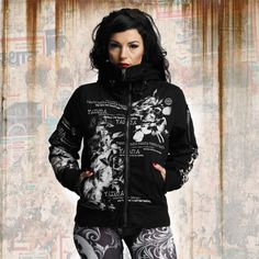 b4060c311caa Yakuza FLOWER HEAVY BOMBER WINTER JACKET dámska bunda GJB 10133 black