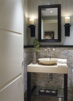 Perfect for the half bathroom United Tile Falling Water Mosaic