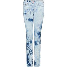 MANGO Slim-leg low-waist jeans (€18) found on Polyvore
