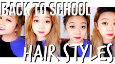 BACK TO SCHOOL: 4 Easy & Fast Hairstyles!
