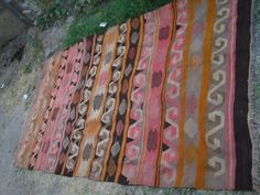 Antique Turkish Handwoven Wool Kilim Kelim Rug by CAPPODOCIARUG