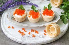 Рецепт тарталеток с икрой и творожным сыром