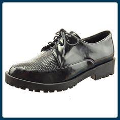 Damen Mode Schuhe Derby-Schuh Mokassin Fertig Steppnähte - Weiß WL-301-28N T 40 Sopily DXEKp