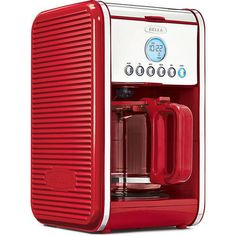 Bella Linea 12 Cup Programable Coffee Maker Brewing Kitchen Essential Red NEW #1