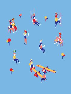 Brilliant work by Minji Moon, a New York City graphic designer specialized in motion graphics and illustration. More animated GIFs via FormFiftyFive Bag Illustration, Character Illustration, Digital Illustration, Graphic Design Print, Modern Graphic Design, Isometric Design, Isometric Art, Beatles, Grid Design
