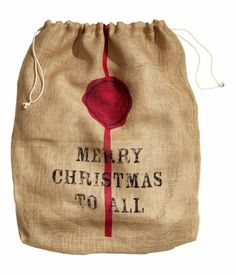 santa bags for kids H&m Christmas, Christmas Scents, Merry Christmas To All, Christmas Drinks, Rustic Christmas, Christmas Recipes, Christmas Ideas, Xmas, H&m Home