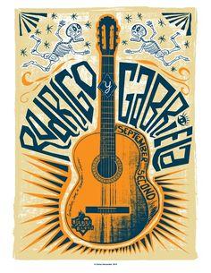 Rodrigo y Gabriela Venue Poster artwork. #music #posterart #artwork #musicart http://www.pinterest.com/TheHitman14/music-poster-art-%2B/