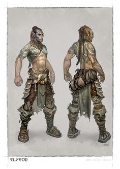 armor artist request barbarian braid brown hair character concept art dreadlocks elf elveon facepaint fantasy shirtless tattoo turn-around turnaround woad Male Character, Character Portraits, Character Creation, Character Concept, Concept Art, Character Design, Fantasy Rpg, Medieval Fantasy, Dnd Characters
