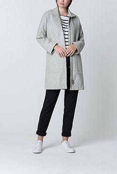 Italian Wool Twill Textured Coat