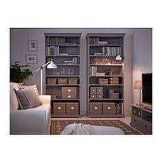KVARNVIK Boîte avec couvercle, gris - gris - 38x29x15 cm - IKEA