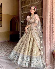 Sneak Peek Into JJ Valaya's Summer Wedding Collection 2021 Indian Wedding Gowns, Indian Bridal Sarees, Indian Bridal Outfits, Bridal Dresses, Indian Lehenga, Pakistani, Dress Indian Style, Indian Fashion Dresses, Indian Wear