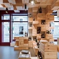 Great display for wine in a retail space