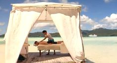 Over the water, open air massage - PARADISE!  www.pgcruises.com