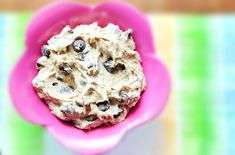 Cookie Dough dip from beans.  Just made this with Cannellini Beans since I was out of Chickpeas.  Tastes just like cookie dough!  I also added a tsp of brown sugar
