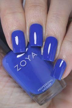 Zoya Splash Collection Summer 2020 Blue Nails, My Nails, Nail Polish Designs, Nail Designs, Essie Polish, Opi, Nail Manicure, Manicures, Mani Pedi