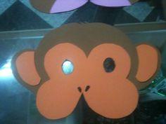 Antifaz de mono de goma eva