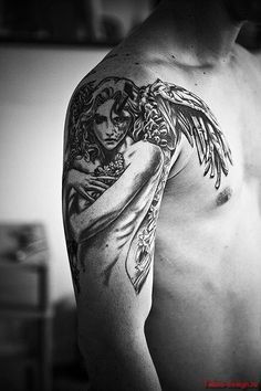 Татуировка ангел - фото татуировки ангел120