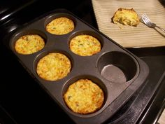Jalepeno and cheddar cauliflower muffins.  Makes 12 muffins (I made 6 big ones!  Cooked for 30min & let sit in oven for 30 min)  Subbed rice flour for the cocunut flour.  MMM MMM good.