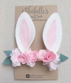 Rabbit Ears Headband Bunny Costume Bunny by VivibellesBows on Etsy