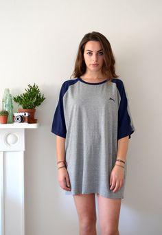 90s Vintage Grey Slazenger Sports Oversized T-Shirt Dress | Ica Vintage | ASOS Marketplace
