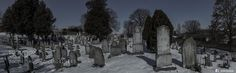 Abandoned cementary in the Moonlight