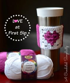 Free Crochet Pattern - Love at First Sip Coffee Sleeve