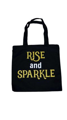 Rise and Sparkle Canvas Tote by IconicLegend on Etsy