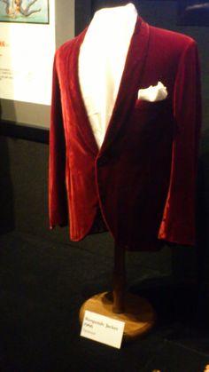 Elvis' red velvet jacket worn in Spinout Graceland exhibit 2013