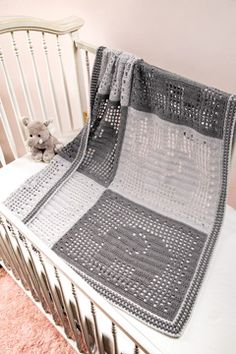 Another new Annie's video! Filet Elephant Baby Blanket project from Learn Filet Crochet Using Thread and Yarn! Annie's video by Susan Lowman Crochet Elephant Pattern Free, Crochet Baby Blanket Free Pattern, Elephant Applique, Crochet Patterns, Elephant Baby Blanket, Baby Blankets, Filet Crochet, Crochet For Kids, Barn
