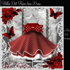 Red polka dot dress with paper bow card front kit on Craftsuprint designed by Julie Hutchings - Beautiful polka dot dress and paper bow card front Wonderful Mini kit with 3d effect paper bow with instructions on how to form the bow2 sheets to print main and sentimentsdecoupage paper bows with instructionssentiment tagsWith LoveHappy Mothers DayOn Your Special DayDaughter With LoveCongratulationsBlank for your own sentimentThis is a wonderful kit to make a gorgeous card front with decoupage…