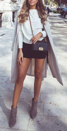 #winter #fashion / monochrome chic