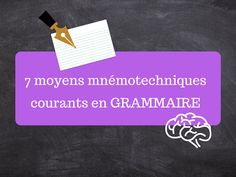 7 moyens mnémotechniques courants en grammaire Convenience Store, Cards Against Humanity, List Of Pronouns, Relative Pronouns, Personal Pronoun, Fun Learning, Dyslexia, Spelling, Grammar