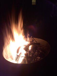 our bonfire split down the middle of the barrel  #diamondcandles #harvestcontest2012