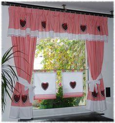 •●✿ Landhaus Gardinen Set ✿●•• 7 tlg. •●✿ Rot von Dekostudio-Chantal auf DaWanda.com