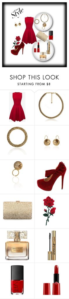 """BLINGsense"" by mustafa-saric ❤ liked on Polyvore featuring Alexander McQueen, Neiman Marcus, Givenchy, Yves Saint Laurent, Giorgio Armani, jewelry and blingsense"