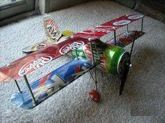 Soda can airplane