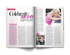 OC Family's Celebrate Moms cover story. Layout by @Monica Garrett