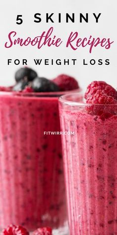 5 Best Smoothie Recipes for Weight Loss 5 skinny smoothie recipes for rapid weight loss. If you are trying to lose weight and slim down fast, add these rapid weight loss smoothies to your flat tummy diet. They are healthy,… Continue Reading → Weight Loss Meals, Weight Loss Diet Plan, Weight Loss Drinks, Weight Loss Smoothies, Healthy Weight Loss, Lose Weight, Weight Lifting, Best Smoothie Recipes, Good Smoothies