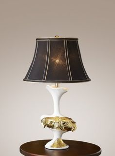 Gorgeous lamp shade - form PQS Resin Table Lamp: P0246TA