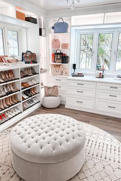 Find a place for every pair! Dressing Room Closet, Dressing Room Design, Dressing Rooms, Wardrobe Room, Closet Bedroom, Master Closet, Walk In Closet, Room Ideas Bedroom, Bedroom Decor