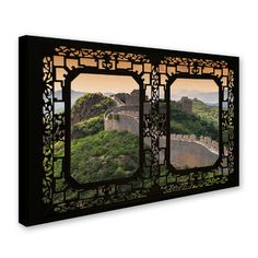 "Trademark Art ""Window Wall V"" by Philippe Hugonnard Photographic Print on Wrapped Canvas Size: 22"" H x 32"" W x 2"" D"