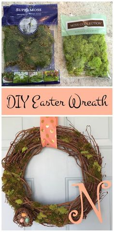 DIY Easter Wreath an