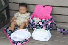 Doll Diaper Bag and Diapers -- A Dream Come True for my Doll-obsessed Child.