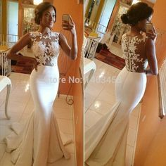 Cap Sleeves Lace Open Back Mermaid Bridal Gown 2014 New Sexy Wedding Dresses sheer see through vestidos de novia